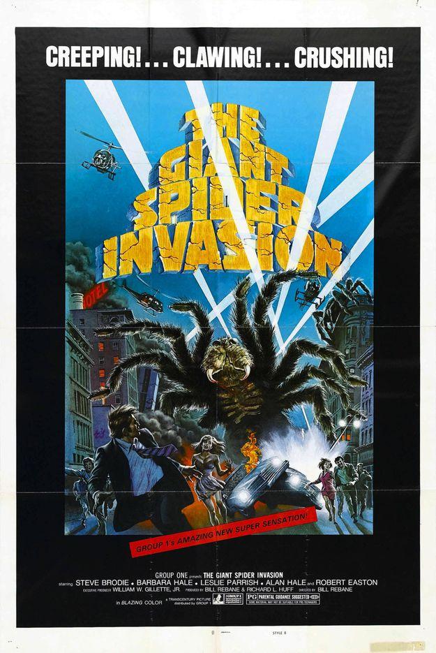 invasion des araignées géantes - affiche