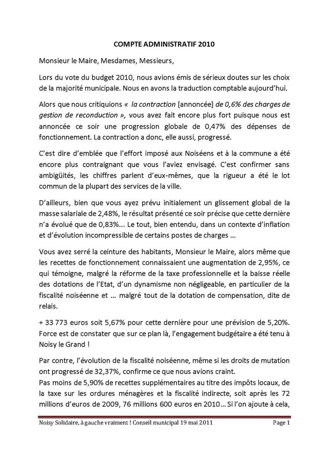 compte administratif 2010 19-05-11 Page 1