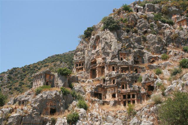 Tombes lyciennes cité antique Myre