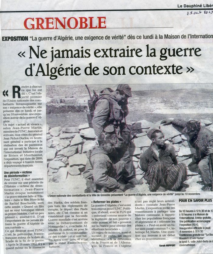 Article d'annonce Expo 25 oct 2010