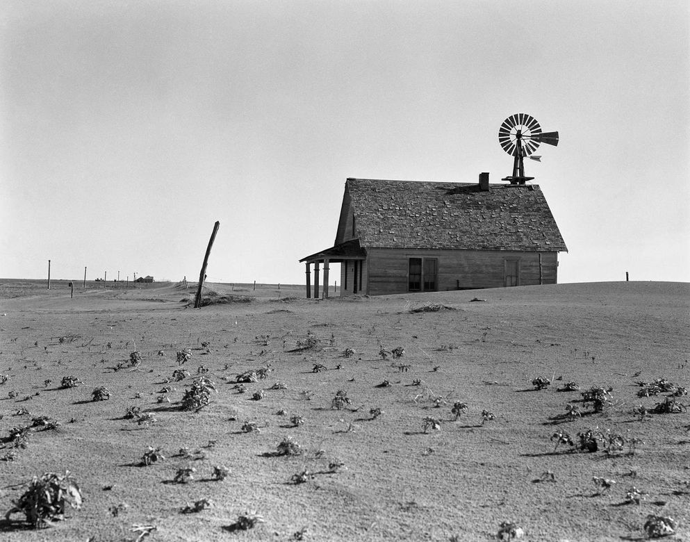 Dorothea Lange Dust Bowl farm. Coldwater District north of